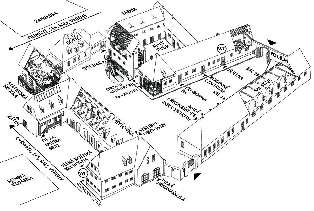 Mapa toulcova dvoru