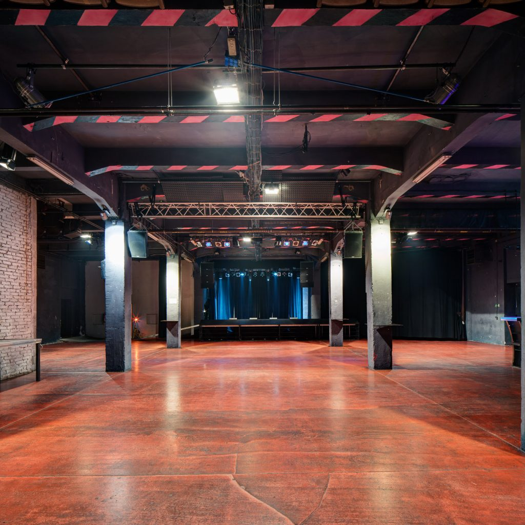 Hlavní sál smíchovského Meet Factory